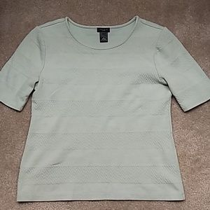 Ann Taylor Short Sleeve Mint Shirt
